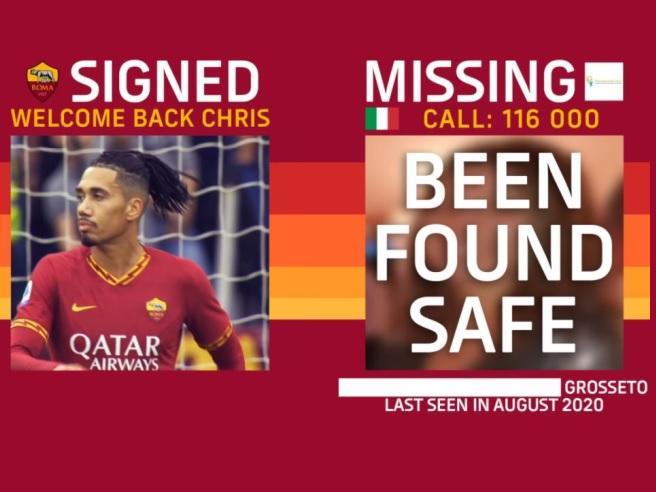 Chris smalling roma cares missing kids